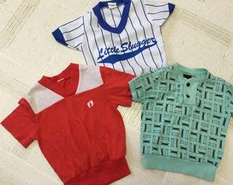 Vintage 1980's Boy Shirts Set of 3