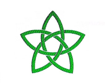 Celtic Star Embroidery Design. Celtic Knot Pattern in 2 sizes