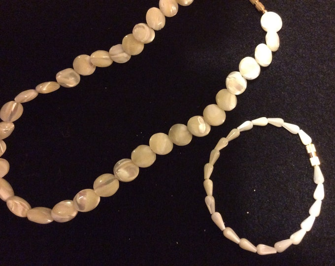 "16"" Shell Necklace and 7"" Shell Bracelet Set"