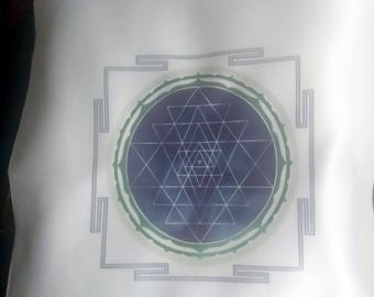 CUSHION cover - Yantra Yoga Meditation pillow