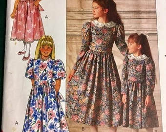 Butterick Vintage Pattern 4405  Sizes 4 thru 6 UNCUT- Little Girls Dress Pattern