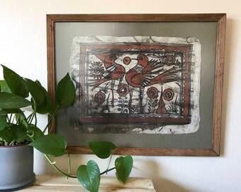 Vintage Bird Folk Art 2:2