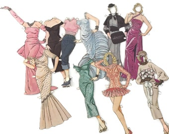 Vintage Paper Dolls 40's 50's 60's Paper Ephemera Crafting Scrapbooking Vintage Fashions Collage