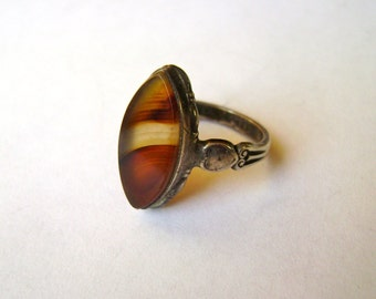 vintage sterling Clark and Coombs ring, size 5