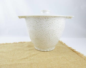A 'Roseware' Shatterproof Plastic Ice Bucket - New/Never Used - Original Label - Thermal - Styling and Usefulness - Ice Bucket OR Cookie Jar