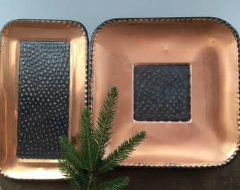 Vintage copper plate Norwegian copper plate Handmade copper plate Made in Norway