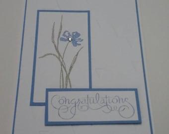 Contemporary Wedding Congrats card