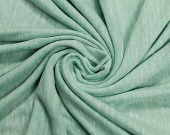 Green Mint Light Slub Printed Sandwash Rayon Fabric by the Yard - Style 705