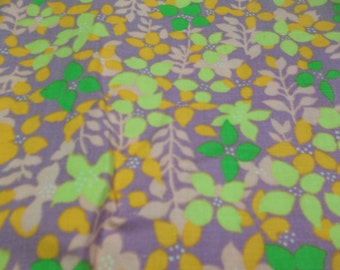 "Vintage Mod Mid Century Fabric, Purple Pink Orange Lime Green, 39"" x30"",T"