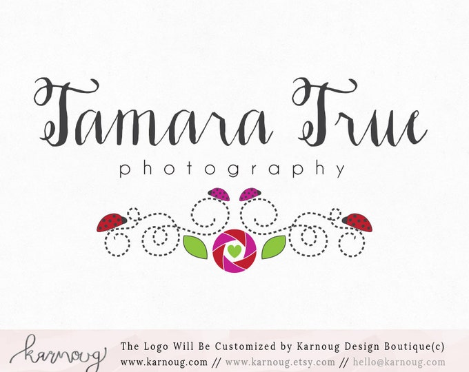 Lens logo|Ladybug Logo|Store Logo|Photography Logo|Boutique Logo|Premade Logo|Watermark Logo|Business Logo|Branding Logo|digital logo