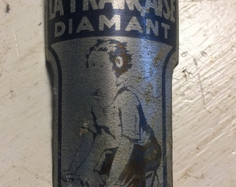 Vintage  French Metal Bicycle ID Tag