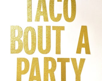 Taco Bout a Party Banner Fiesta Flamingo Summer Birthday Party Girls Night Bachelorette Party Pineapple Party Flamingo Party Banner Decor