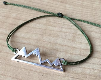 Custom Waterproof Mountain Bracelet - Made to Order - Custom Bracelet - Pura Vida Inspire Bracelet