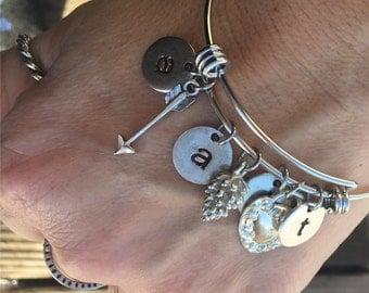 Custom Initial Charm Bracelet
