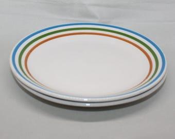 2 Vintage Syracuse China Restaurant Ware  Plates - Syralite