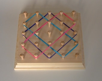 Rubber Band Geoboard ** Rubber Band Toy ** Geometric Shape Board ** Rubber Band Picture