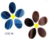 Spring Sale Set/2 Spectrum COE 96 FLOWERS Precut Fusible Glass Fusing Mosaic Supplies