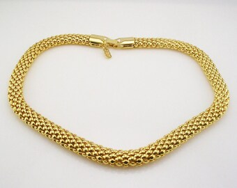 Jackie Kennedy GP Necklace - 24K Basketweave Design, Box and COA