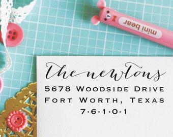 Custom Personalized Address Stamp - NEWTON Style