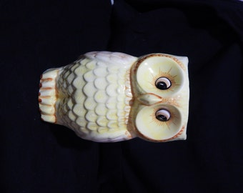 Relpo Vintage Yellow Owl Planter