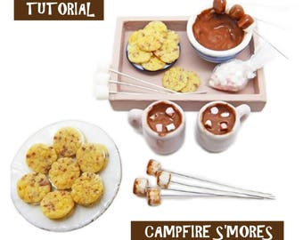 Tutorial - Campfire S'Mores - Miniature 1:12 Scale Food