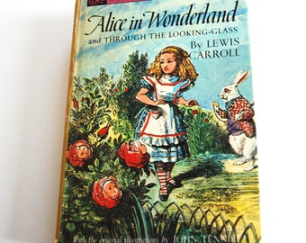 Vintage Book, Companion Library, Alice in Wonderland with the Five Little Peppers