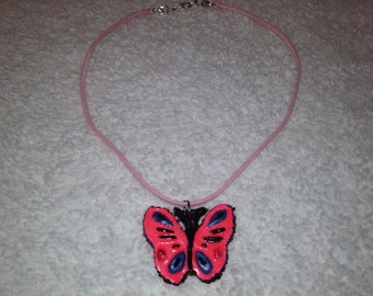 glow in the dark butterfly necklace