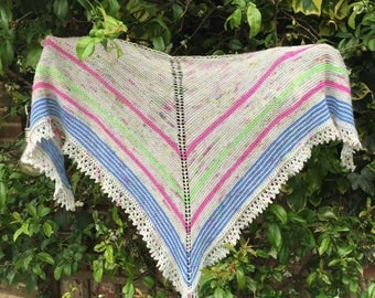 Bella Pattern - triangular shawl - available as a pdf download