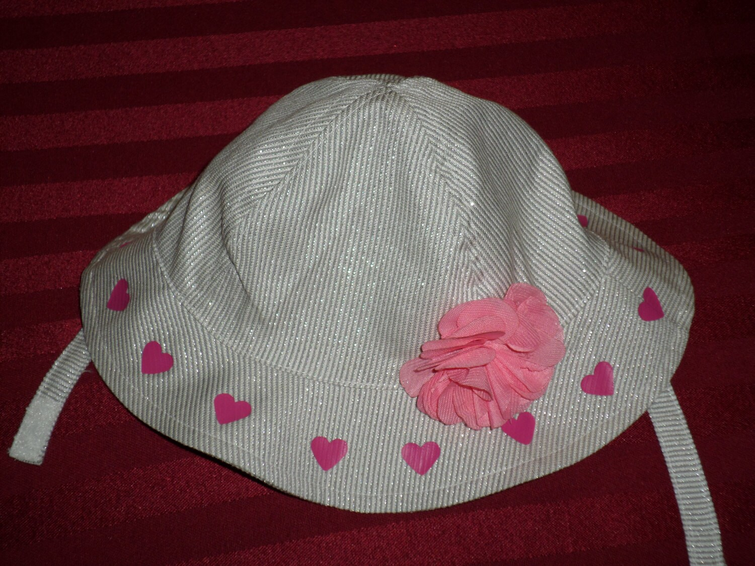 Valentine Baby Sun Hat Sun Hats For Baby Girl by SugarBearHair
