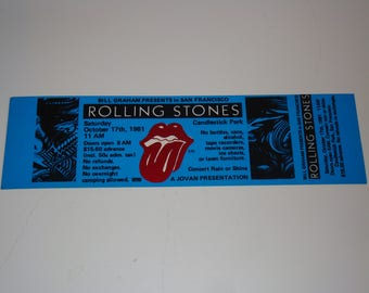 The ROLLING STONES Unused 1981 Tour TICKET J. Geils Band George Thorogood Blue