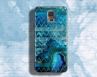 Water case for Samsung Galaxy S5 Turquoise for Samsung Galaxy case Sparkle blue for Samsung Galaxy case Waterfall case for Samsung Galaxy S7