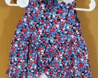 Floral infant romper dress 3 to 6 mos
