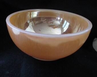 Vintage FIre King Peach Luster Soup-cereal bowl - estate find!