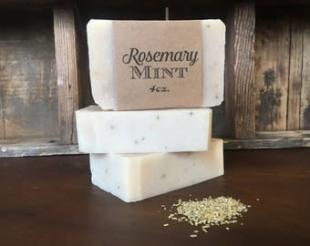 Rosemary Mint Soap, 4 oz.
