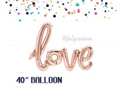 Rose Gold Balloon | LOVE Script Rose Gold Balloon | Rose Gold Love Balloon 40"