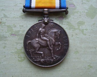 A Genuine WWI/World War One British War Medal/Service Medal - 1914-1918 - Silver Medal.