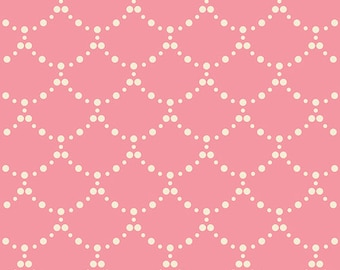 Cotton Fabric Emmy Grace Ripples Rose by Bari J for Art Gallery Fabrics Pink Fabric