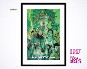 John Carpenter's Big Trouble in Little China // Kurt Russell Retro Movie Poster Print // Original Illustration & Wall Art Design