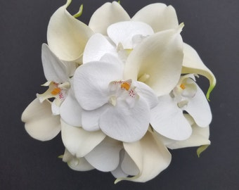 Phalaenopsis Orchids and Calla Lily Wedding Bouquet