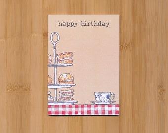 Afternoon tea birthday card