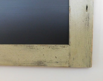 Extra Large Long Framed Chalkboard Hand Distressed Wood Shown in Sage 24 x 54 *MORE COLORS AVAILABLE*