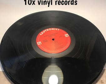 """12"""" vinyl records for crafting"""