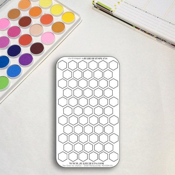 Blank Planner Sticker Sheet, The Ones for Stamps Honeycombs, Hexagons, Erin Condren, Happy Planner, Traveler's Notebook, Get to Work Book