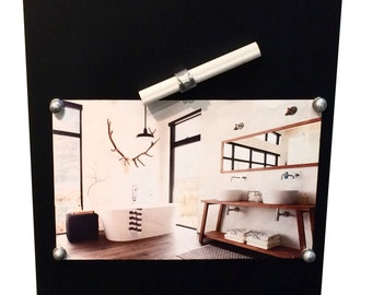 Magnetic Chalkboard Magnet Chalk Holder + Chalk-Office Kitchen Living Bedroom Home  Decoration Practical Planner-Steel w/ Resistant Paint