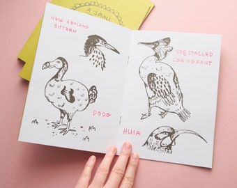 A Small History Of Dead Birds Screen Printed Illustration Zine