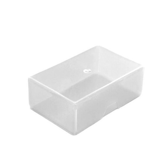 5 10 or 20 clear plastic craft boxes business card for Craft boxes with lids