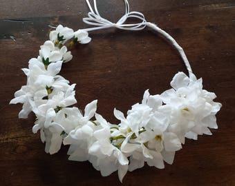 Bridal Crown - Wedding Bridal Crown - Faux Flower Bridal Headpiece - Bridal Hair Accessory