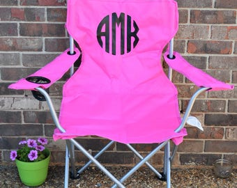 Monogrammed Folding Chair