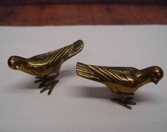 Pair of Solid Brass Birds, Home Decor, Wedding Decor
