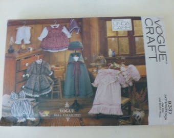 "Vogue Craft 8337 - 18"" Early American Doll Clothes Pattern - OOP - uncut"